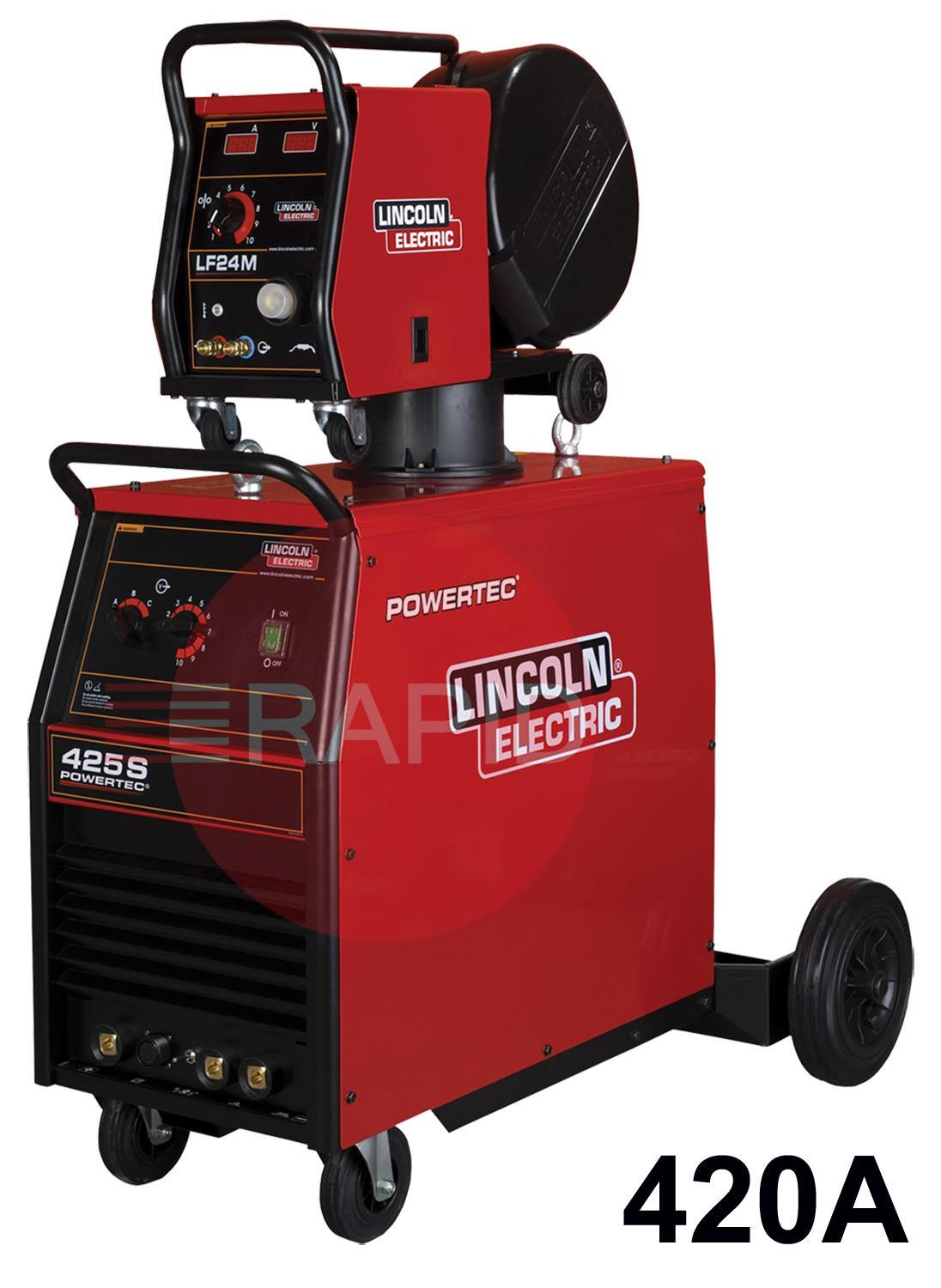K14062-X-2X-RWP  Lincoln Powertec 425S Mig Welder, 5m Interconnection  - Ready to Weld Package