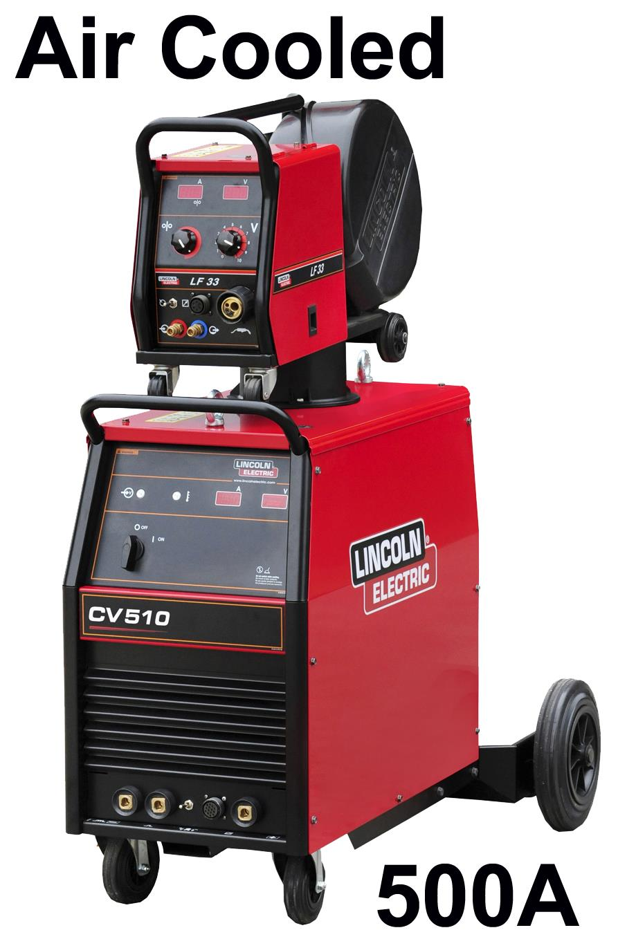 K14081-1A-33-RWP  Lincoln Electric Idealarc CV-510 Mig Welder - Ready to Weld Package, with LF33 Wire Feeder, 5m Intercon, 400v 3ph