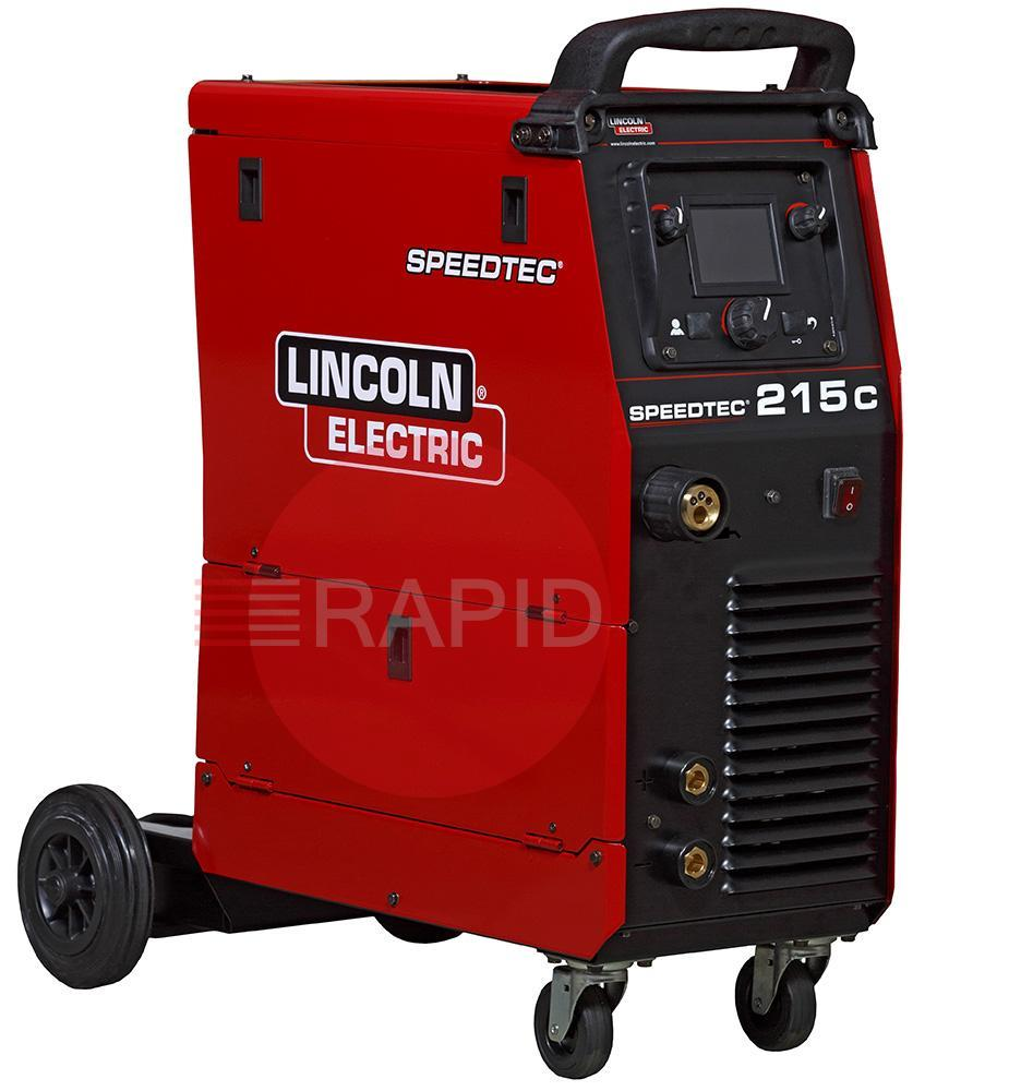 K14146-1MP  Lincoln Speedtec 215C Multi Process Ready to Weld Package with Mig Torch, Tig Torch & Arc Cable Set, 110/230v