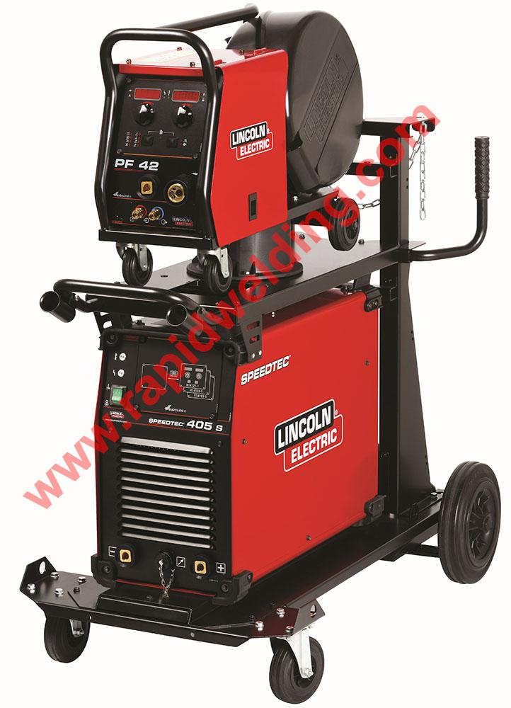K14161-42-5AP  Lincoln Speedtec 405S Mig Welder Package with PF-42 Wire Feeder, Ready to Weld Package, 400v 3ph