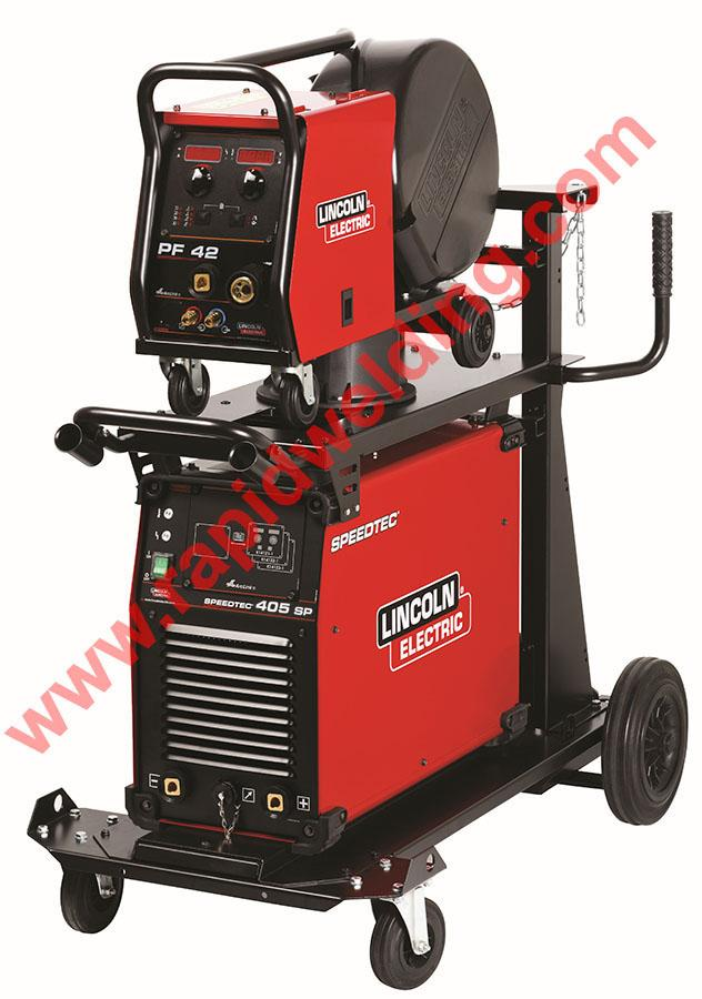 K14162-42-5AP  Lincoln Speedtec 405SP Mig Welder Package, with PF-42 Wire Feeder, Ready to Weld, 400v