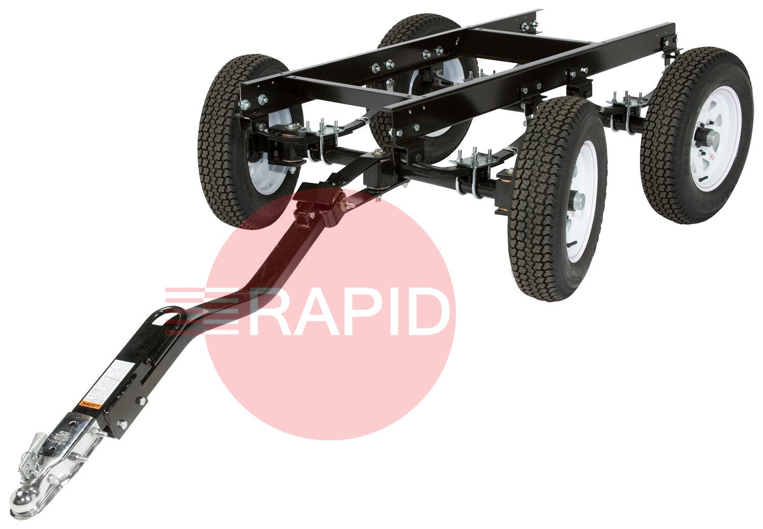 K2641-2  Four Wheel Steerable Yard Trailer with Duo-Hitch