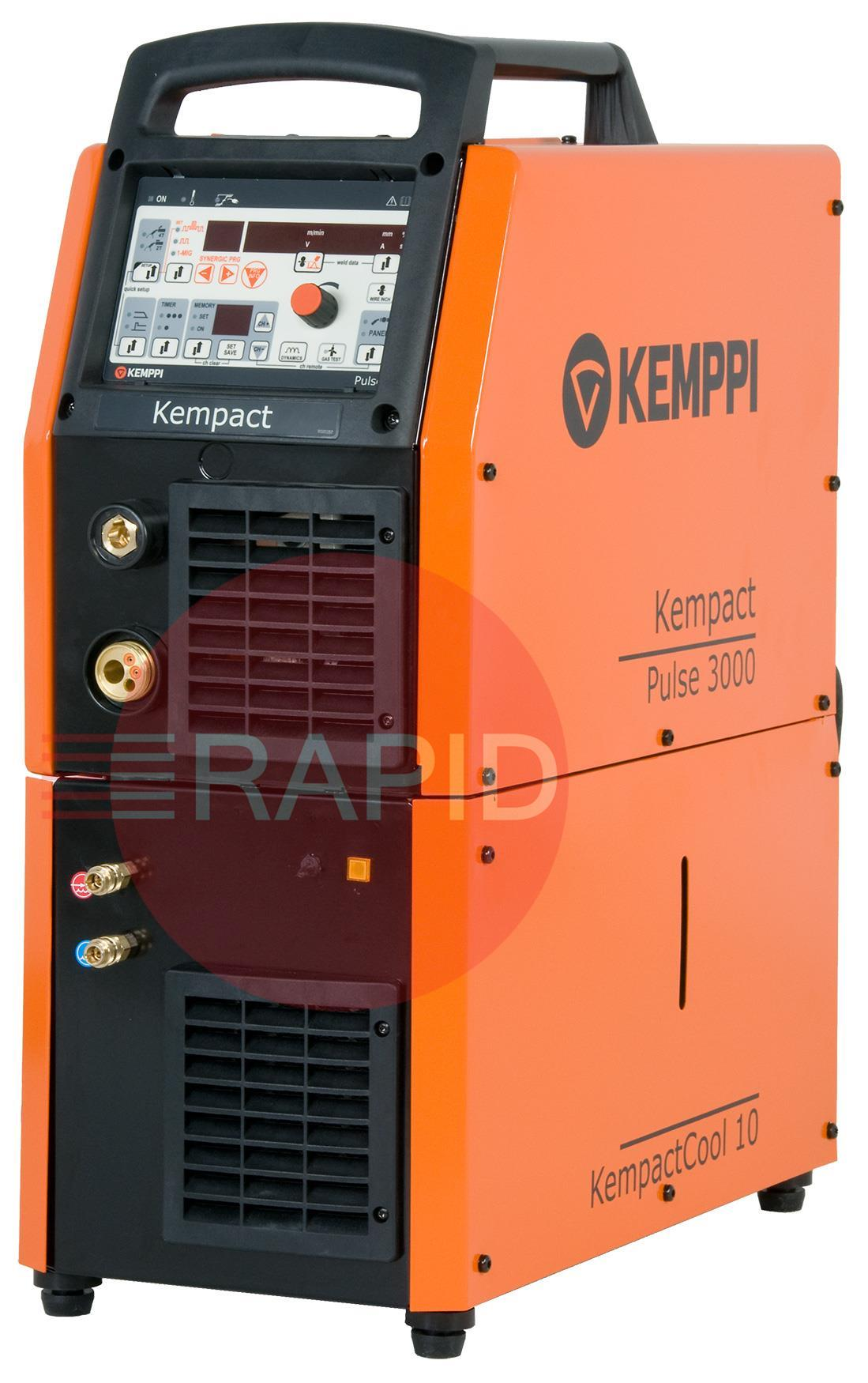 KPACT3000W  Kemppi Kempact Pulse 3000 Water Cooled Mig Welder. Comes with PMT 30W 3M Torch, Earth & Gas Hose. 400v CE