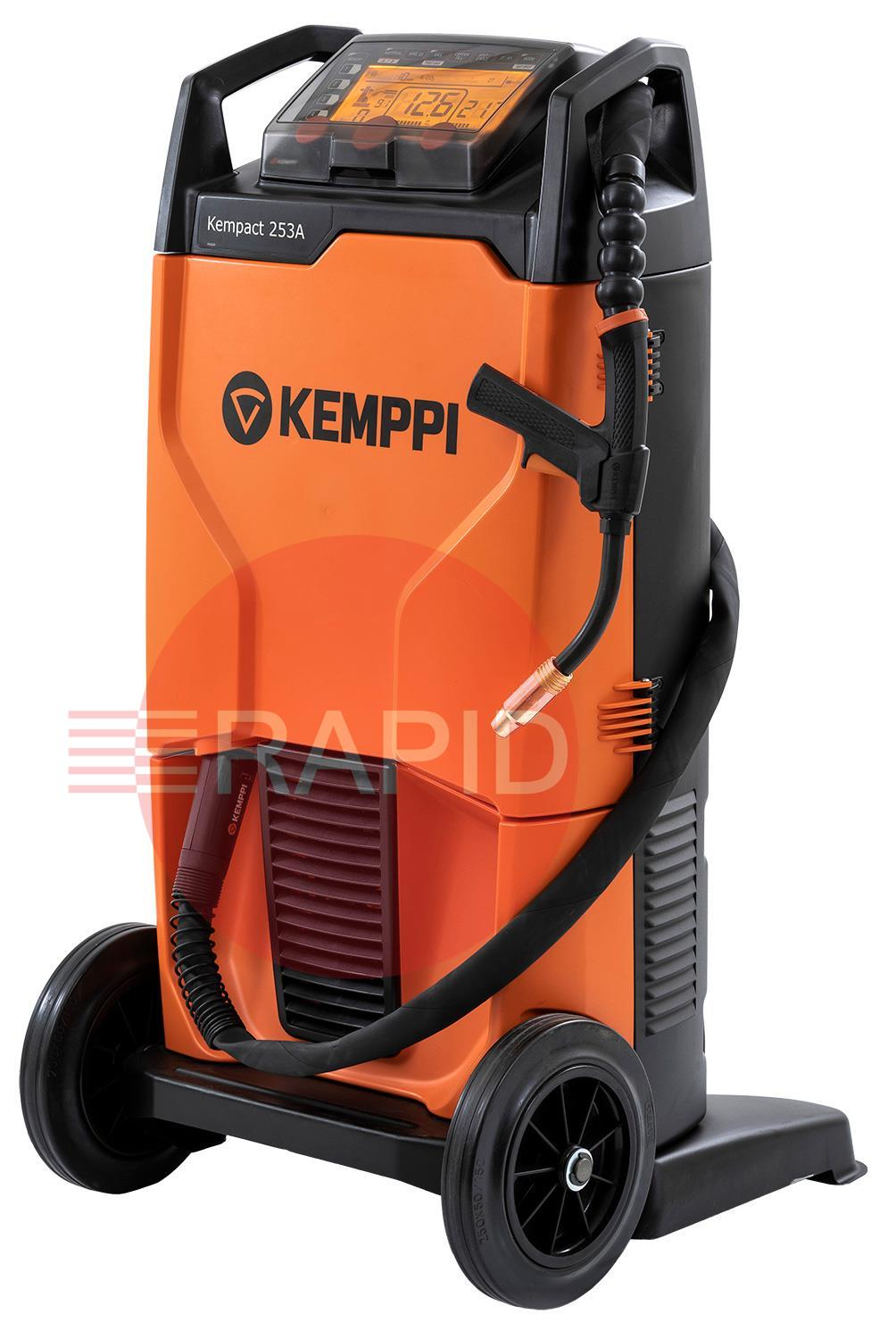 KempactRA-253A  Kemppi Kempact RA 253A, 250A 3 phase 400v Mig Welder, with FE32 Torch