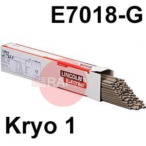 Kryo-1  Lincoln Electric Kryo 1 Low Hydrogen Electrodes, E7018-G-H4R
