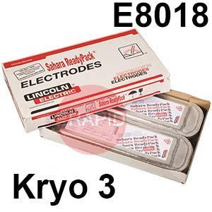 Kryo-3-SRP  Lincoln Electric Kryo 3 Vacuum Sealed SRP Pack, Low Hydrogen Electrodes. E8018-C1-H4