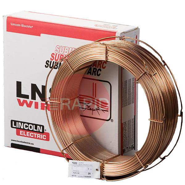 LNS164-24-25  Lincoln Electric LINCOLNWELD LNS-164 Mild and Low Alloyed Subarc Wires 2.4 mm Diameter 25 Kg Carton