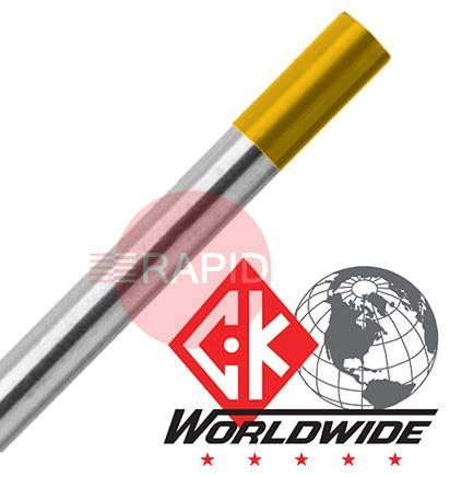 LanthanatedTungsten  CK 1.5% Lanthanated (Gold) Tungsten Electrode 175mm long