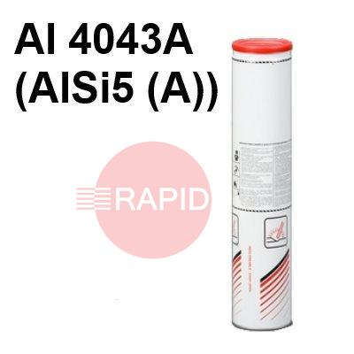 Lincoln-AlSi5  Lincoln AlSi 5 Aluminium Covered Electrodes, 2.0KG Pack, ISO 18273 : Al 4043A (AlSi5(A))