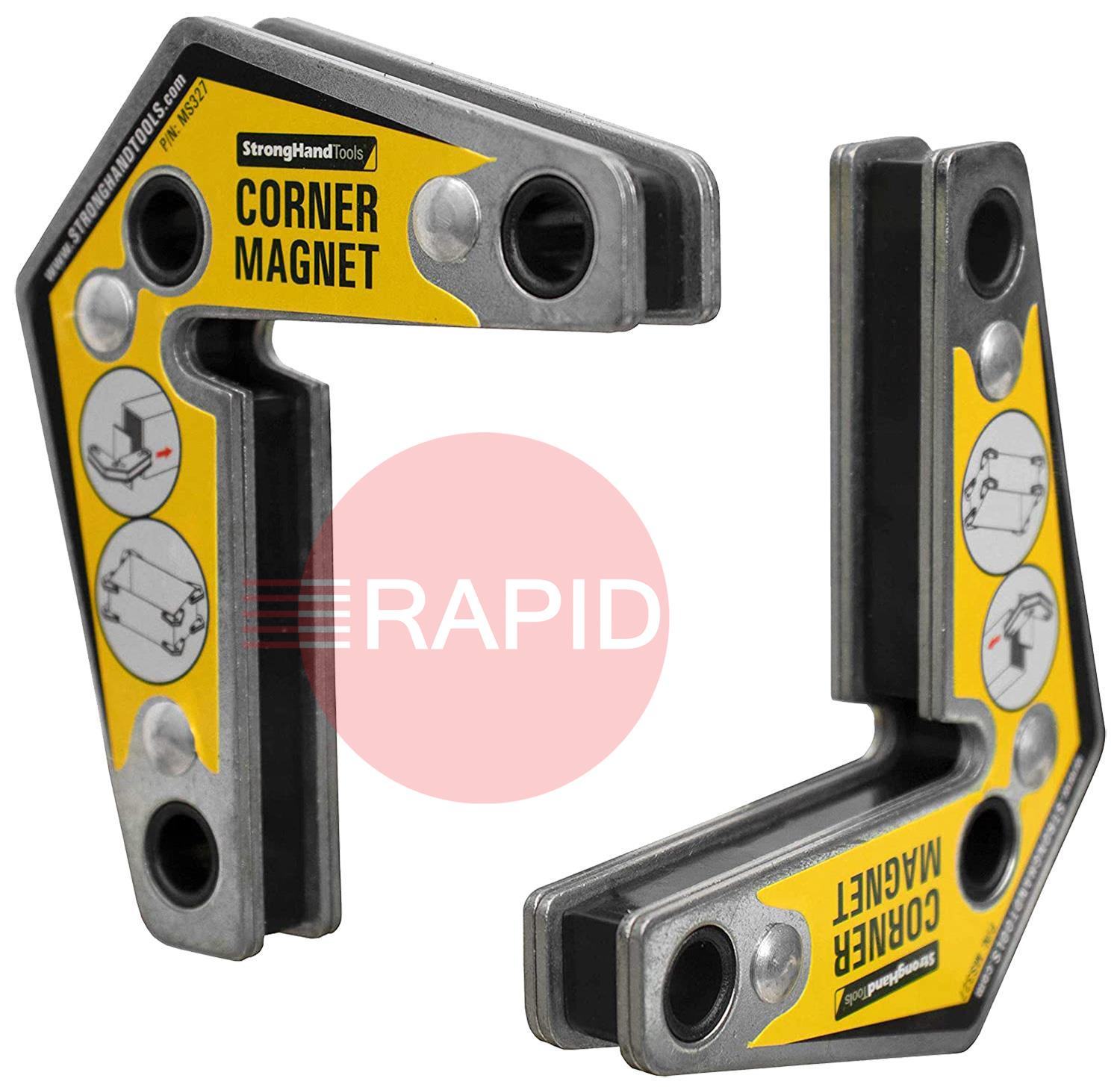 MST327  Outside Corner Magnets Pack Of 2. 90 degree and 60 degree angles.