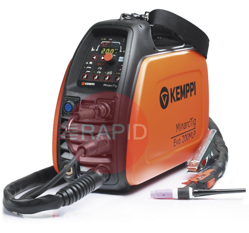 P0642  Kemppi MinarcTig EVO 200 MLP with 4m TTC220 Torch, Earth Cable & Gas Hose<font color='blue'> Includes Free European Shipping</font>