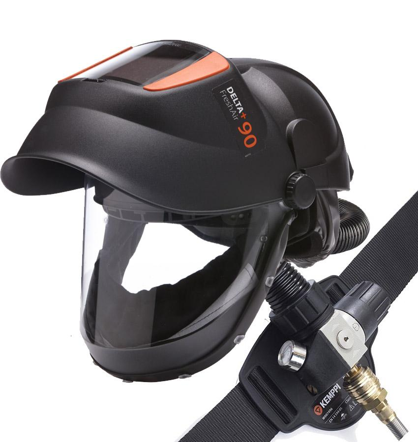 P1705  Delta+ 90 FreshAir with Pressure Supplied Air Control Pack with Shade 11 Glass Welding Lens