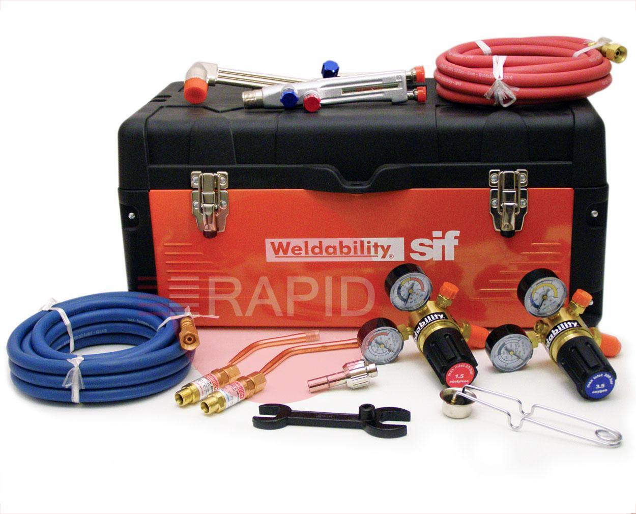 PKGCASEAWCHD  HD Gas Cutting + Welding Set (Oxy Acetylene)