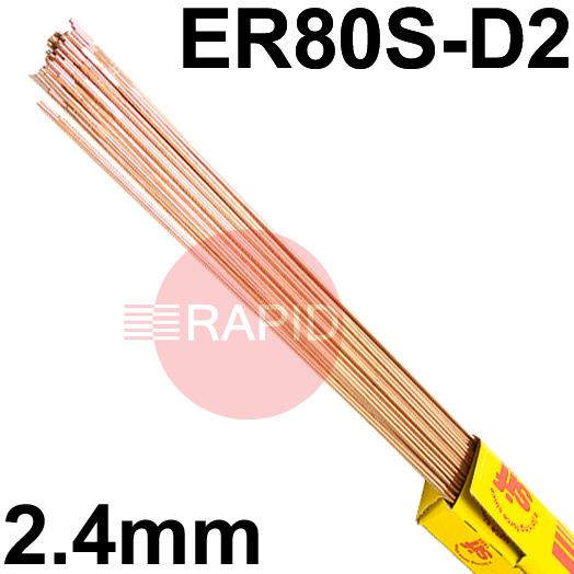 RA312450  SIFSTEEL A31 copper-coated alloy steel rod 2.4  Dia mm 5.0kg Ctn, EN ISO 14341-A G4Mo, BS: 2901 A31, AWS: ER 80S-D2