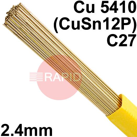 RO8224XX  SIFPHOSPHOR BRONZE No 82 rod 2.4mm Diameter, Cu 5410 (CuSn12P), C27