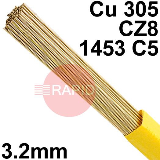RR023201  SIF Brazing & Gas SIFREDICOTE No 2, 3.2 mm Diameter 1.0 kg / Pkt EN 1044: CU305, BS: 1845 CZ8, 1453 C5