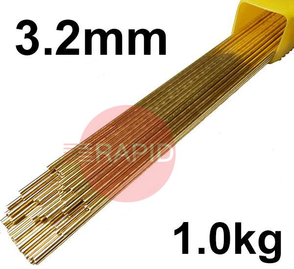 RS413201  SIF AUTOBRONZE, 3.2 mm Diameter 1 kg / Pkt EN 1044: CU 302, BS: 1845 CZ6A, 1453 C2