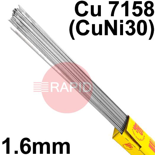 RT731650  Sifalloy No73 Special Alloy TIG Wire 1.6mm Dia 5.0kg Ctn, ISO 24373 Cu7158 (CuNi30)