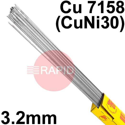 RT733250  Sifalloy No73 Special Alloy TIG Wire 3.2mm Dia 5.0kg Ctn, ISO 24373 Cu7158 (CuNi30)