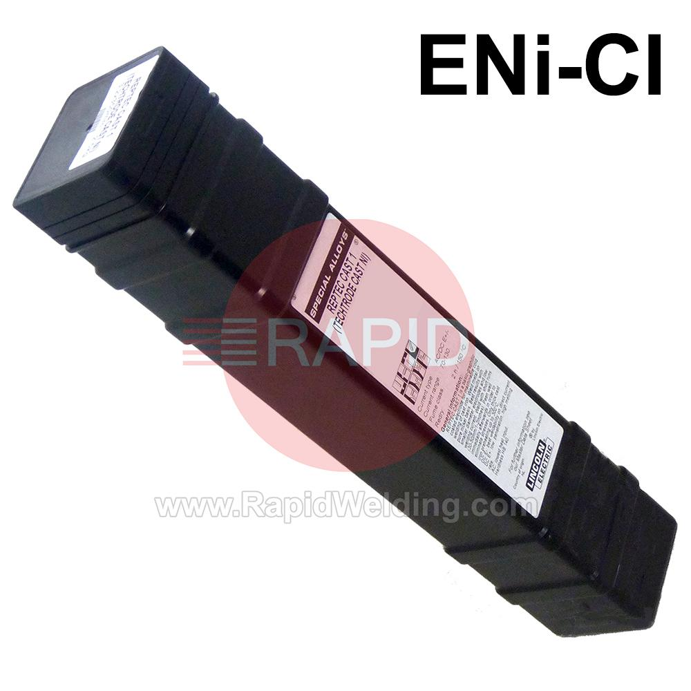 RepTec-Cast1  Lincoln Electric RepTec Cast 1 Maintenance and Repair Covered Electrodes, 2.5 Kg Pack, Eni-CI, E C Ni-CI 1