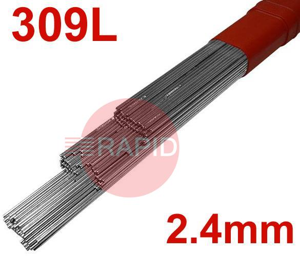 T30924  309LSi Stainless Tig Wire 2.4mm Diameter.