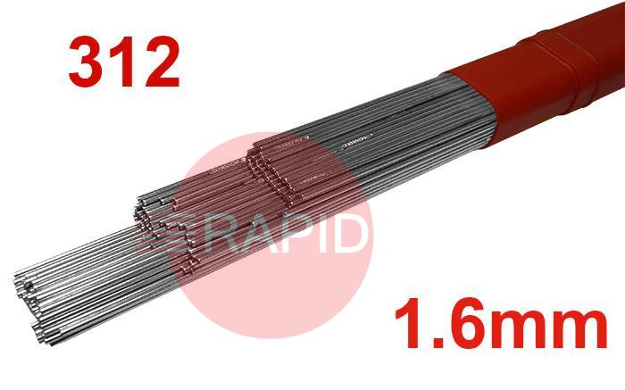 T31216  312 Stainless Tig Wire. 1.6mm Diameter