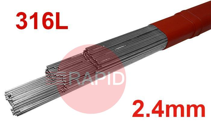 T31624  2.4mm Diameter ER 316 L Tig Filler Wire (316 S92)