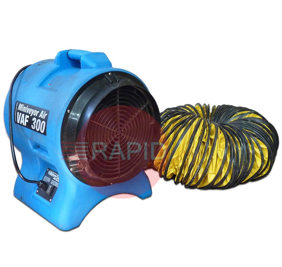 "USD-VF30K  Used 12"" (300mm) Twister Extraction Fan with 7.5m Flexible Ducting - 110v"