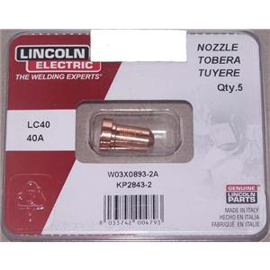 W03X0893-2A  Torch Expendables - PC620 Contact Tip/Nozzle 40A (Pack of 5)