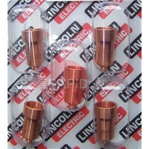 W03X0893-37A  Lincoln Electric Torch Expendables - PC1030 Ext. Contact Tip/Nozzle 100A (Pack of 5)
