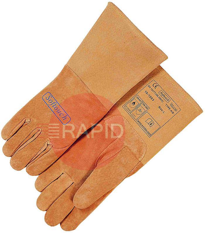WEL10-1003M  Weldas Softouch Top Grain Tig Glove Medium