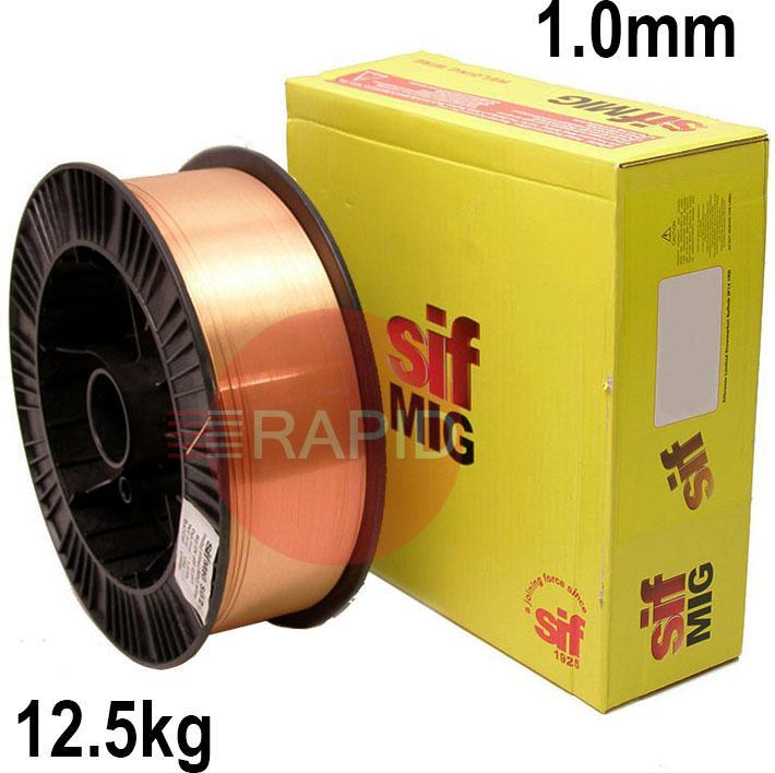 WO081012  Sifmig 8 phosphor bronze mig wire 1.0mm Dia 12.5 kg Spl, ISO 24373 Cu 5180A (CuSn6p), BS: 2901 C11