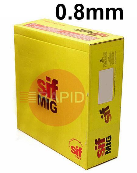 WO140865  SIFMIG 1050 Mig Wire, 0.8mm Diameter, 6.5Kg Spool, EN ISO 18273 - S AI 1070 (AI99.7), BS 2901 1050A, (GIB) (NG3)