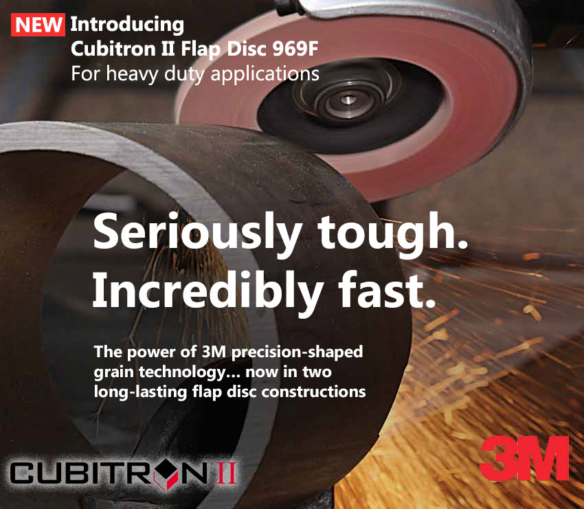 3M Cubitron II Flap Discs, for weld removal, grinding, deburring and more