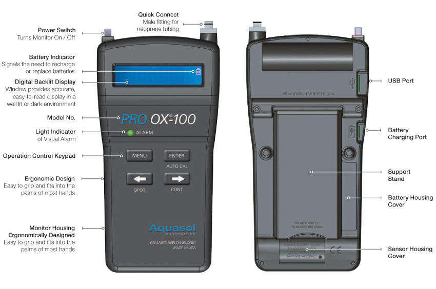 PRO OX-100 Programmable Digital Oxygen Monitor