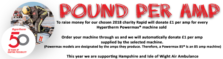 To raise money for our chosen charity, Rapid will donate for every Powermax machine sold